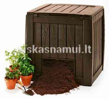 Komposto Deze Composter With Base 340 L Rudas