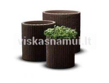 Vazonai Sml Cylinder Planters Rudas