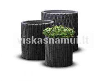 Vazonas Sml Cylinder Planters Antracitas
